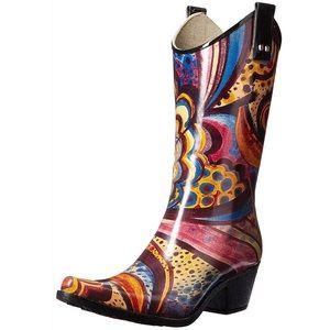 Nature's Breeze Rubber Patterned Rain Boots